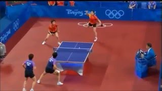 2008 Olympics - HKG vs. CN, Table Tennis Team Women Doubles Semifinals Part 3