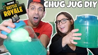COMMENT FAIRE Un FORTNITE CHUG JUG IN REAL LIFE! DIY FORTNITE CHUG JUG CHALLENGE