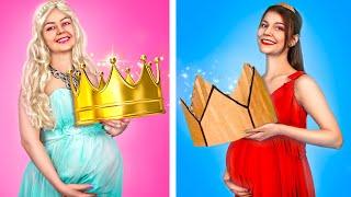 Богатая VS Бедная беременная принцесса