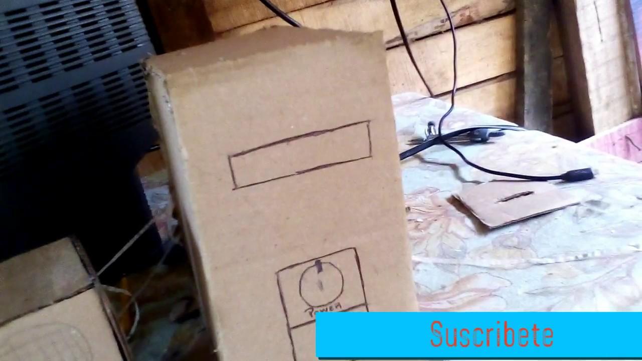 Como hacer un computador de carton facil y sencillo youtube for Como construir pileta de material