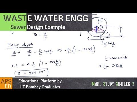 Sewer Design Example | Waste Water Engineering