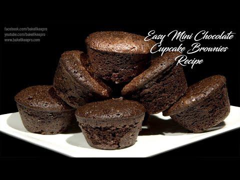 Easy Mini Chocolate Cupcake Brownies Recipe