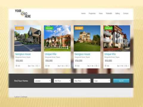 property listing template real estate template i netsolution