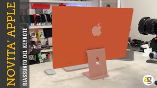 NOVITA' APPLE iMac 2021 M1, iPad pro M1, AirTag, AppleTV 4K e iPhone 12 viola. Riassunto KEYNOTE