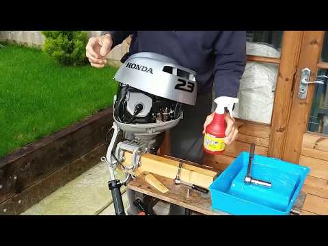 Honda 2.3 hp Outboard Engine Winterisation