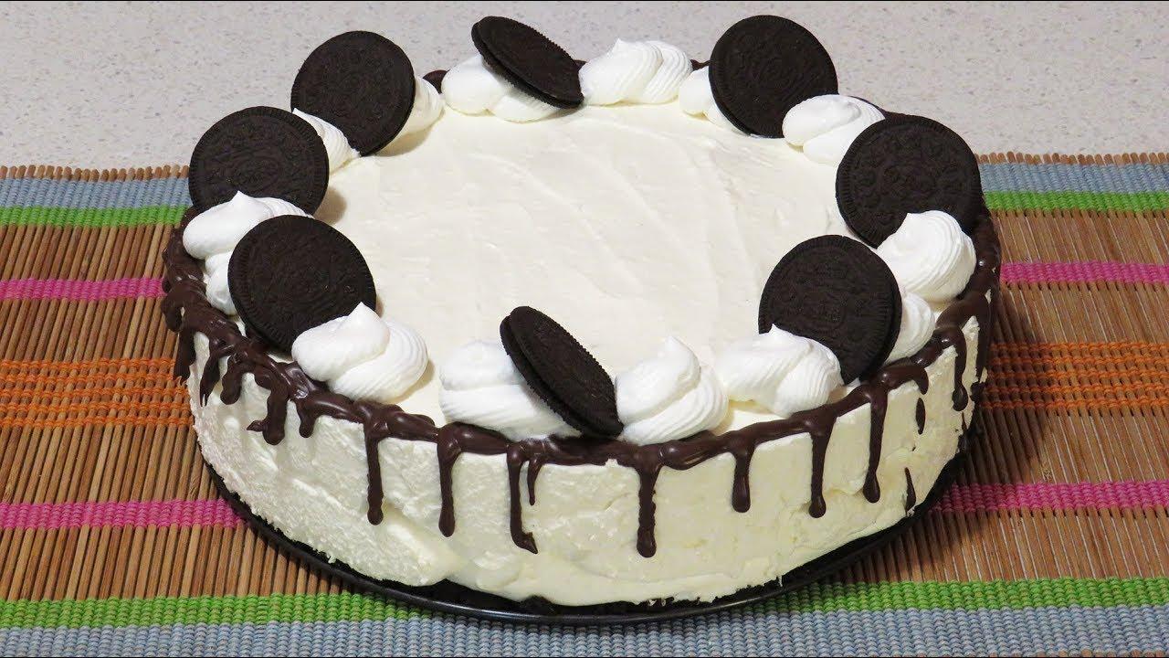 Cheesecake cu mascarpone si oreo fara coacere