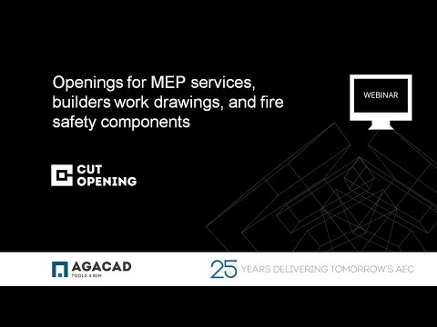 Openings for MEP services, builders work drawings & fire safety components