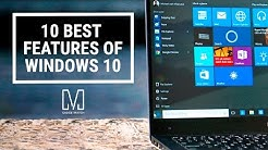 10 Best Features of Windows 10