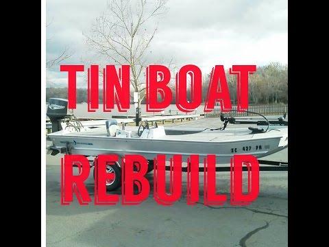 Tin Boat Rebuild (B.LAT #8) How to restore a Aluminum boat