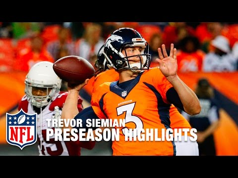 Trevor Siemian Highlights | Best & Worst of 2016 Preseason | NFL