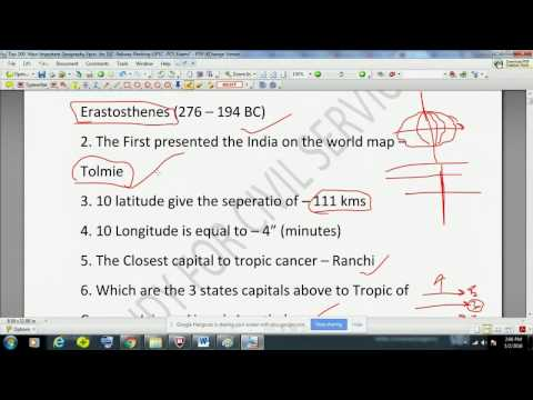 Geography One Liner GK - Must Know Facts for ALL EXAMS  2017