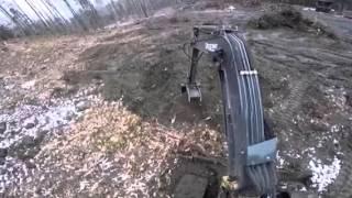 Pulling stumps with my John Deere 50-D