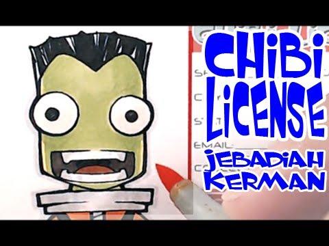 Drawing Chibi License - Jeb | Jebadiah Kerman | Kerbal Space Program