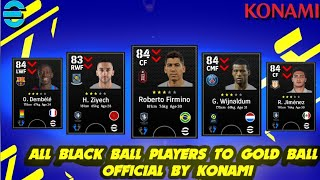 efootball22 - OFFICIAL upgraded players ratings 🔥🔥 black to Gold upgrades 😱 FT t.werner & ziyech