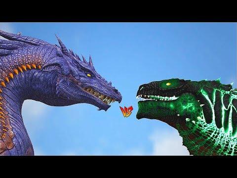 Ark Survival - DRAGON Vs ZILLA/TITANOSAURUS/ALPHA DEATHWORM [Ep.361]