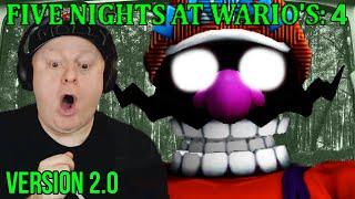 JUMPSCARED BY DEMON WARIO   FIVE NIGHTS AT WARIO'S 4 [ Version 2.0  Week 1 ] - Nights 4 5
