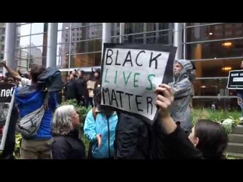 BLM march in Seattle at the federal courthouse