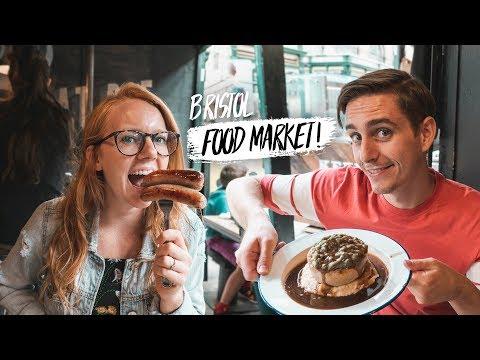 British Food - BEST FOOD MARKET IN BRISTOL! + Exploring The City (Bristol, England)