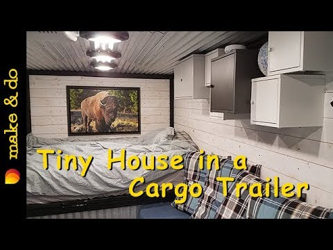 Awesome Tiny House Built in a Cargo Trailer - The Tour