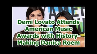 Demi Lovato Attends American Music Awards with History-Making Danica Roem