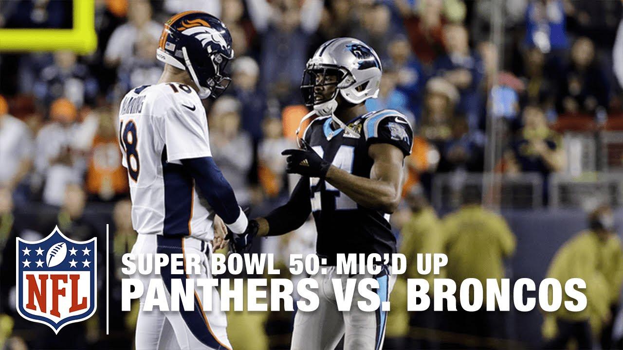 Panthers vs. Broncos: Super Bowl 50   Second Half Mic'd Up Highlights   Inside the NFL