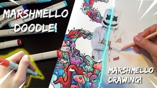 Epic Marshmello drawing / doodle!! - Collab with Shrimpy