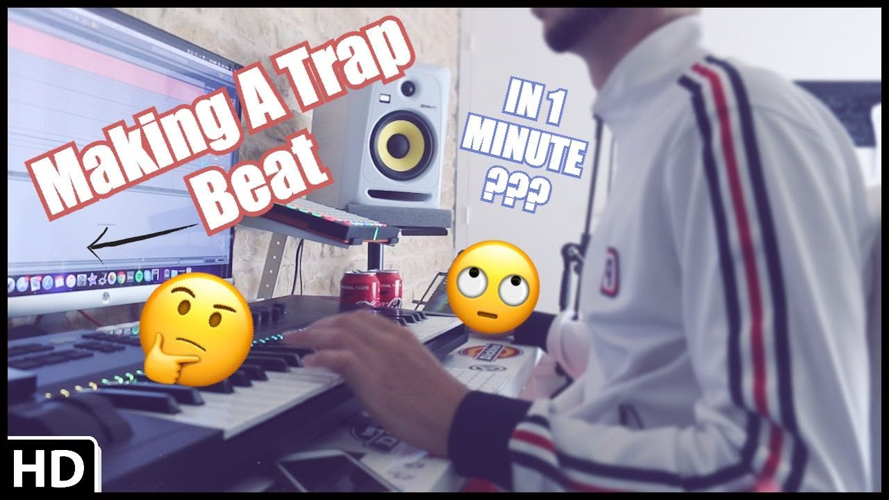 MAKING A TRAP BEAT ! IN 1 MINUTE ???