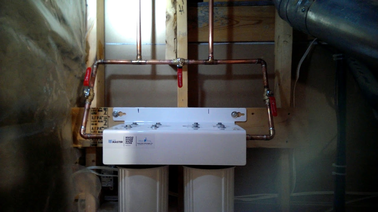 Home Master HMF2SDGC Whole House Two Stage Water Filter Install
