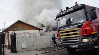 Incendiu Ploiesti - strada Moreni 2 Februarie 2017