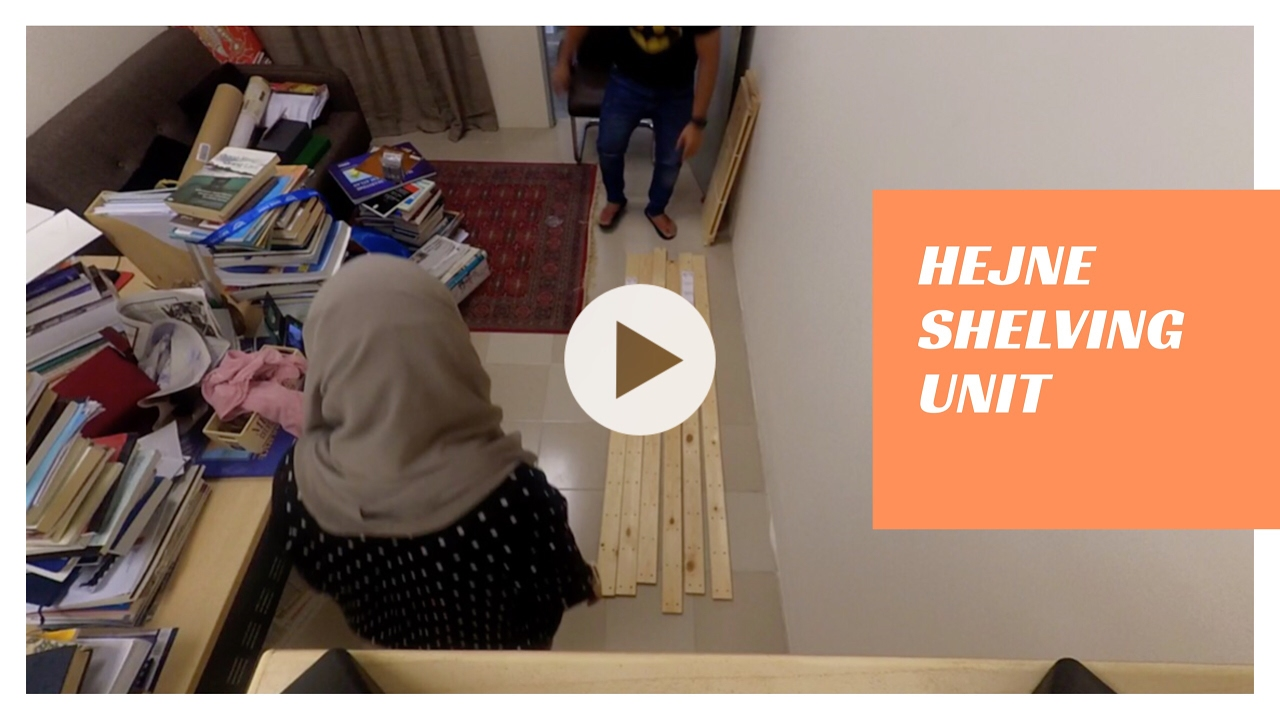 ikea hejne shelving unit: how to assemble - youtube