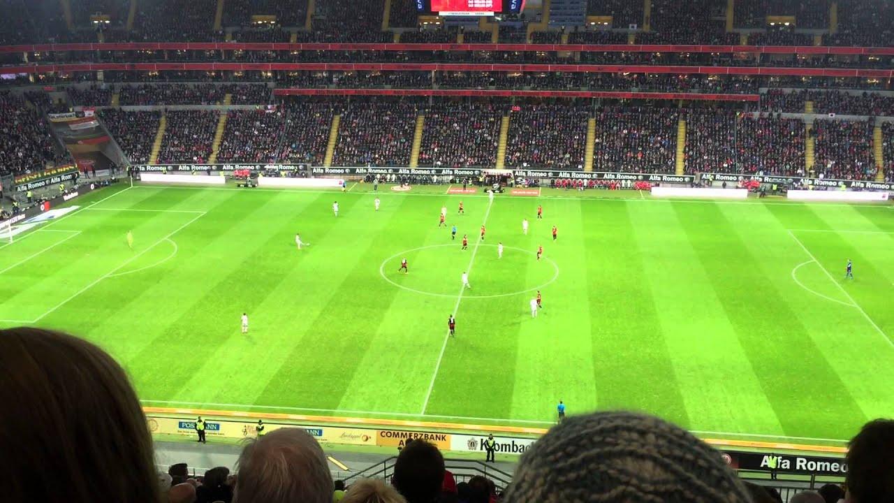 Frankfurt vs Bayern 0:4 8.11.14 Stimmung Tor - YouTube