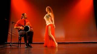 Sadie Bellydance and David Hinojosa Drum Solo Berlin 2015