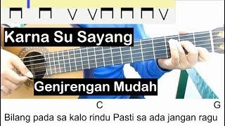 Gambar cover (Genjrengan) Karna Su Sayang Belajar Gitar Untuk Pemula