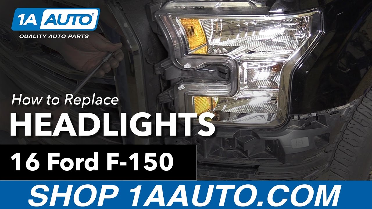 How to replace install headlights 15 16 ford f 150 buy quality auto parts at 1aauto com