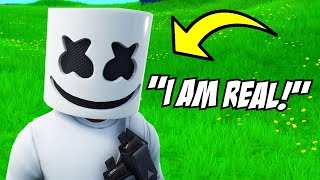 "The ""REAL"" Marshmello Joined in Fortnite.. (Ends Bad)"