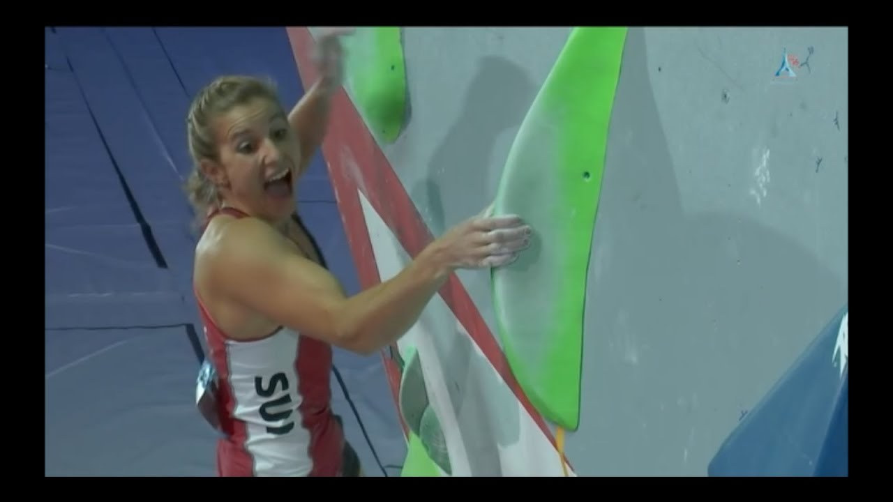 Petra Klingler winning the IFSC World Championships 2016
