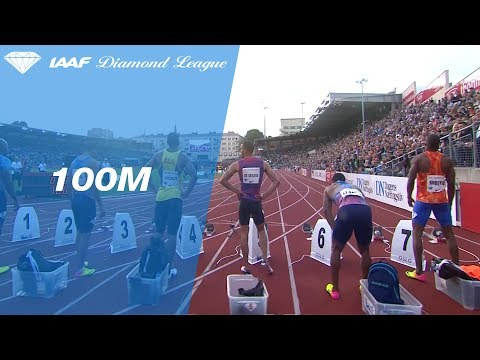 Andre De Grasse wins the Men's 100m - IAAF Diamond League Oslo 2017