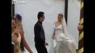 Пьяная девушка испортила свадьбу