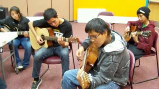 Guitar Workshop on the Navajo Indian Reservation Arizona