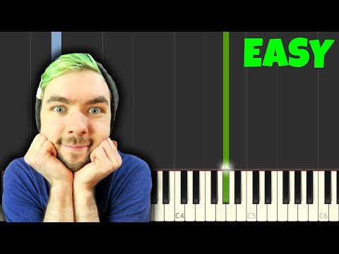 ALL THE WAY  Jacksepticeye Easy Piano Tutorial SynthesiaSheet Music