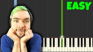ALL THE WAY - Jacksepticeye [Easy Piano Tutorial] (Synthesia/Sheet Music)