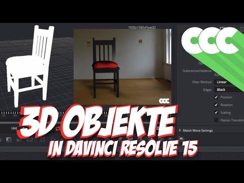 Davinci Resolve 15:  Arbeiten mit 3D Objekten (Tutorial Deutsch)