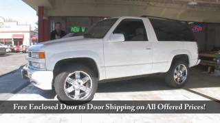 1995 Tahoe 4X4  for sale with test drive, driving sounds, and walk through video