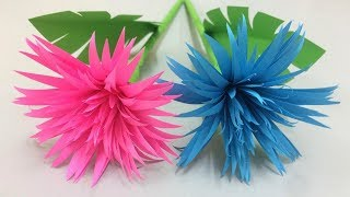 How to Make Beautiful Flower with Paper - Making Paper Flowers Step by Step - DIY Paper Flowers #4