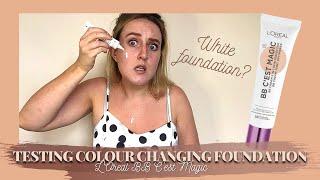 TESTING COLOUR CHANGING FOUNĎATION - L'Oreal Paris BB C'est Magic - BB Cream 5 in 1 Skin Perfecter