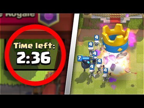 "WORLD RECORD FASTEST THREE CROWN in ""Clash Royale"" HISTORY!"