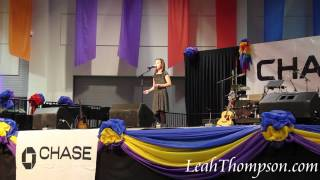 "Little Girl Sings Like a Pro - Leah Thompson singing ""Memories"""