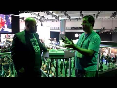 Josh Knowles From Real Game Media Interviews Aaron Greenberg With An Xbox One S Unboxing
