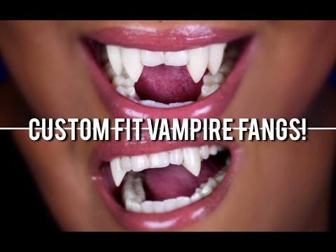 how to make your own realistic vampire fangs at home