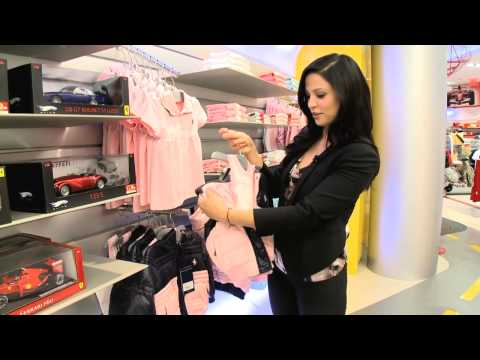 Navi Rawat shops at the Ferrari Store
